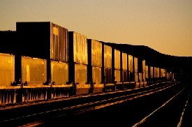 intermodal-container-train-at-sunset